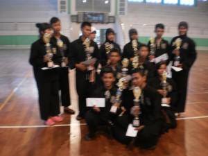 Juara di Pertandingan Pencak Silat se-Kabupaten